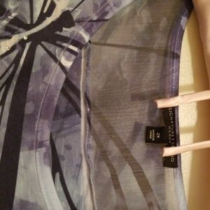 Signature Studio Tops - ❤Blue tye dye butterfly Top Assymetrical hem
